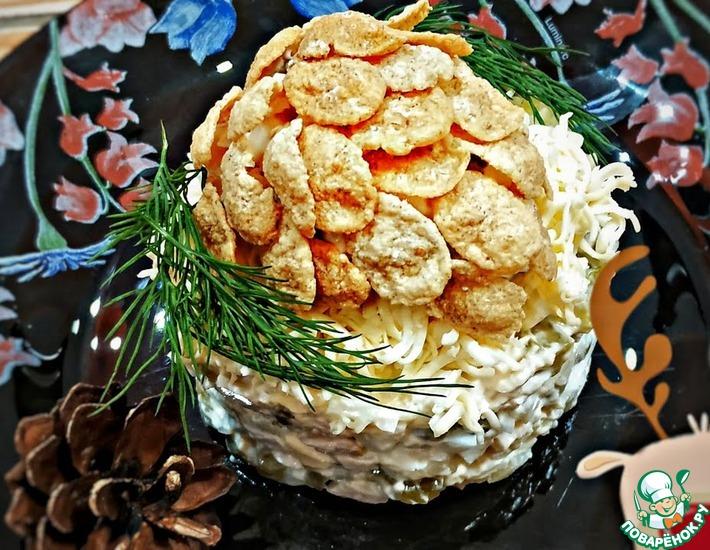 Рецепт: Салат с курицей Шишка