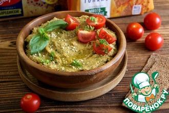 Рецепт: Хумус с базиликом