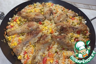 Рецепт: Рис с курицей по-каталонски