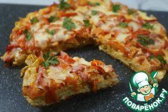 Рецепт: Пицца из нарезанных полосок лаваша