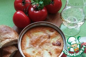 Рецепт: Запечённая моцарелла в томатном соусе