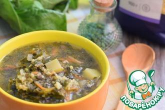 Рецепт: Суп с пшеном и зеленью