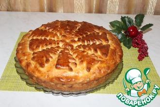 Рецепт: Пирог с халвой и грецкими орехами