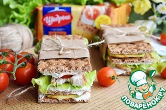 Рецепт: Сэндвич с курицей и кабачком