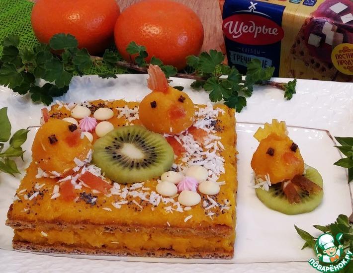 Рецепт: Детский торт с нелюбимой кашей и мандаринами