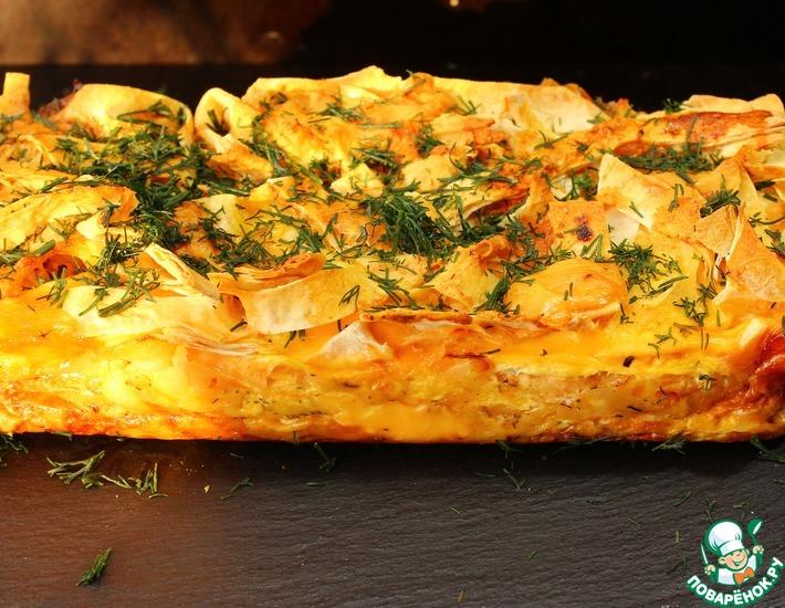 Рецепт: Пирог из лаваша Творожный