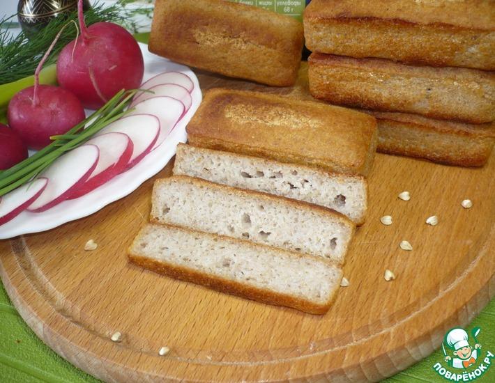 Рецепт: Бездрожжевой хлеб из зеленой гречки