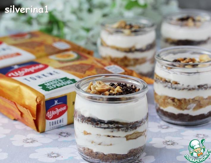 Рецепт: Сливочный десерт с арахисом и шоколадом