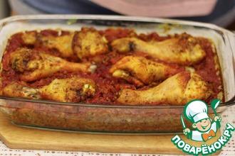 Рецепт: Вкусная курица с гречкой