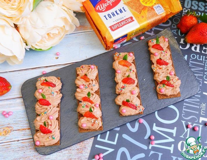 Рецепт: Паста Радужная на хлебцах