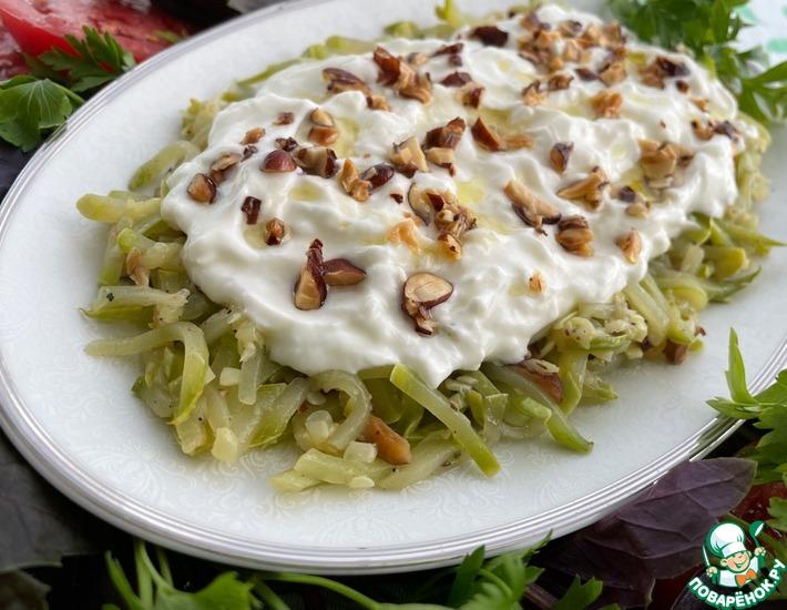 Рецепт: Салат Кабачок с миндалем