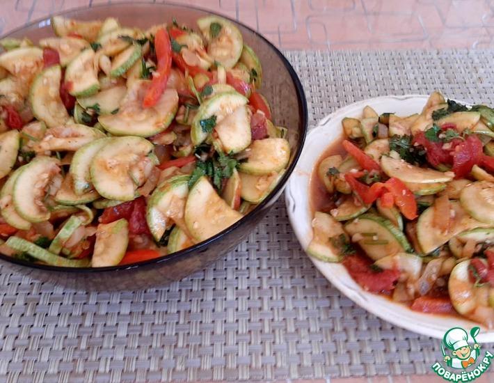 Рецепт: Кабачки по-корейски