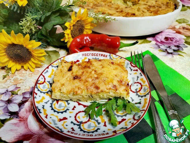 Вермешелевая запеканка с кабачками и сыром