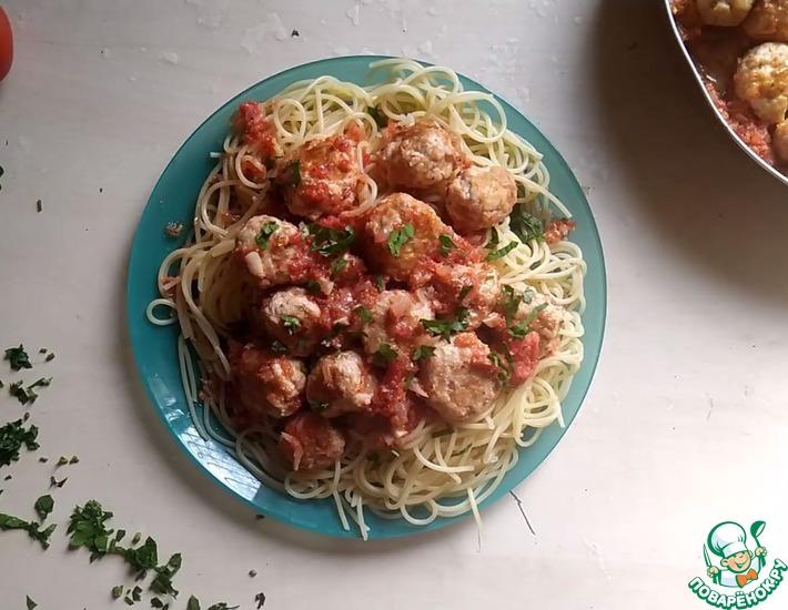 Рецепт: Спагетти с фрикадельками