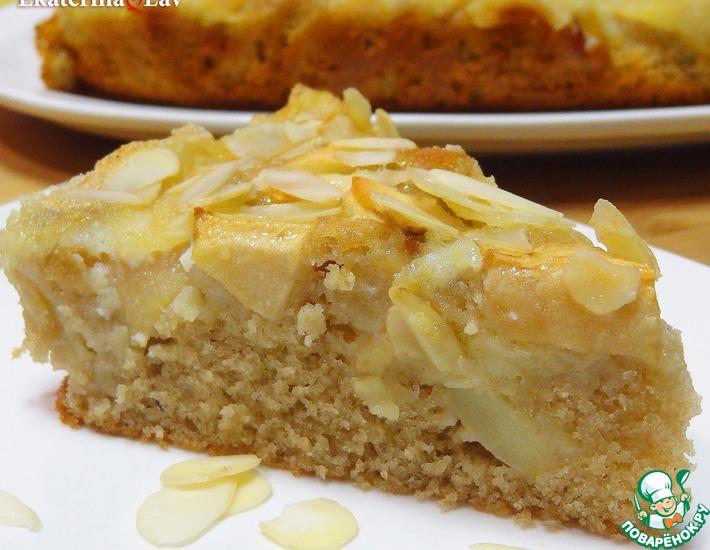 Рецепт: Яблочный пирог с заливкой