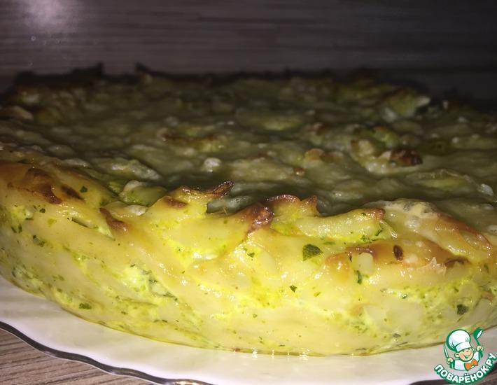 Рецепт: Запеканка из макарон и кабачков