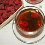 Малиновый чай с мятой
