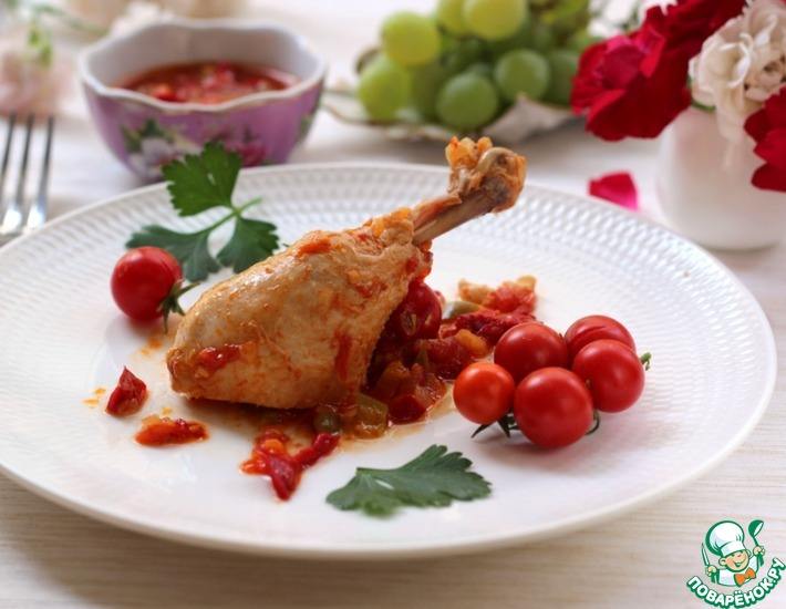 Рецепт: Курица чилиндрон