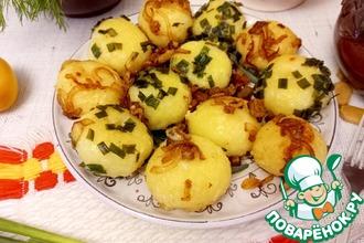 Рецепт: Картофельные клецки со шкварками