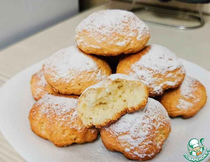 Рецепт: Простое печенье без яиц и масла