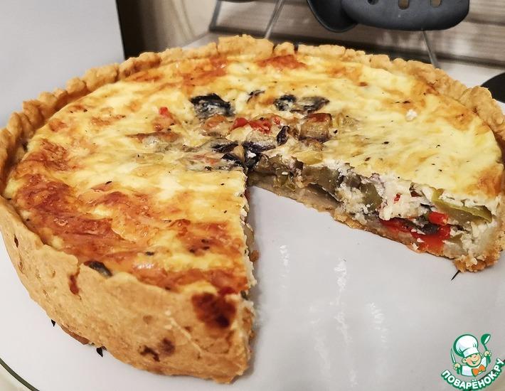 Рецепт: Закусочный пирог из овощей