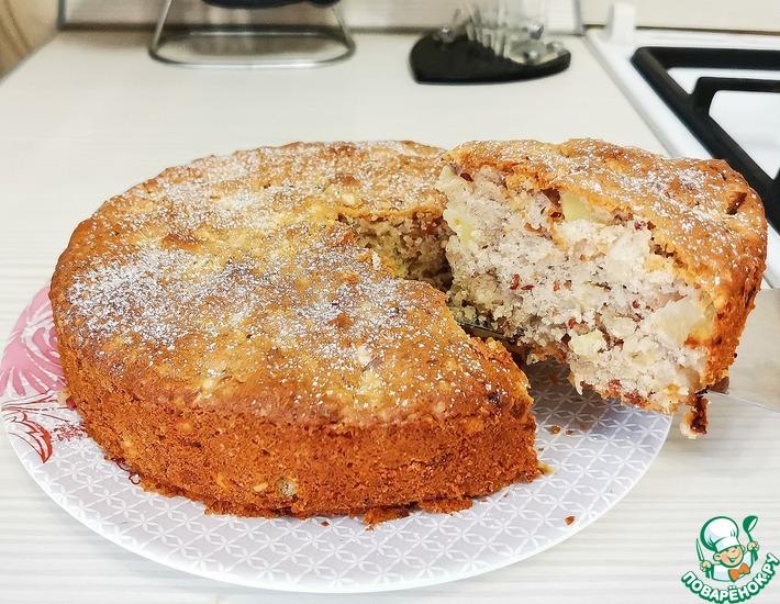 Рецепт: Пирог с яблоками и орехами