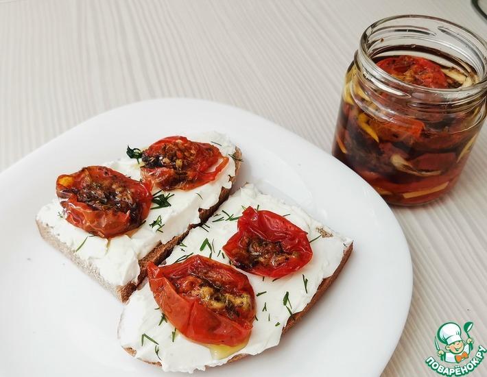 Рецепт: Вяленые помидоры без духовки