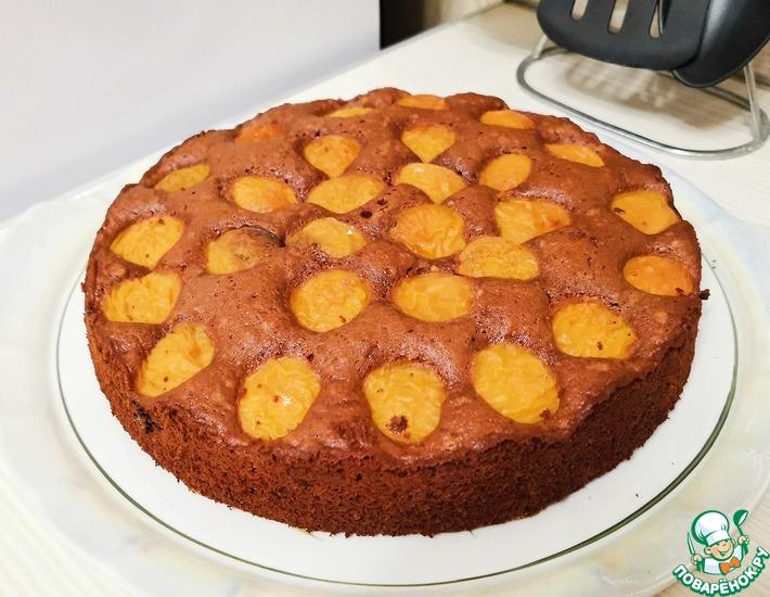 Рецепт: Шоколадный пирог с абрикосами