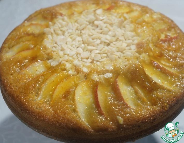 Рецепт: Пирог  Два яблока