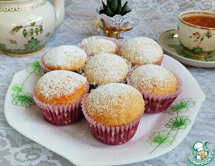 Рецепт: Бисквитные яблочные кексы