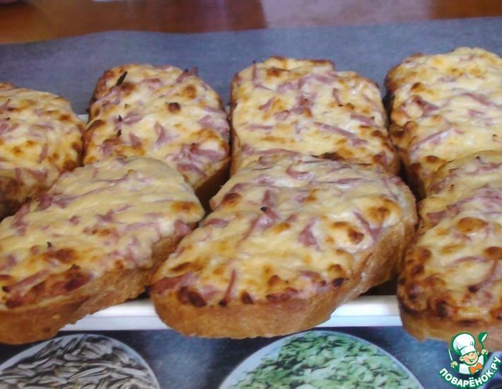 Рецепт: Горячие бутерброды в духовке
