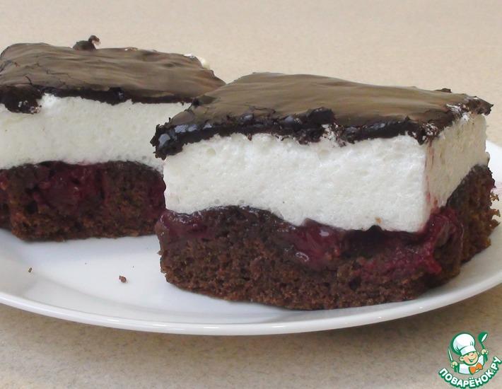 Рецепт: Шоколадно-вишневый пирог