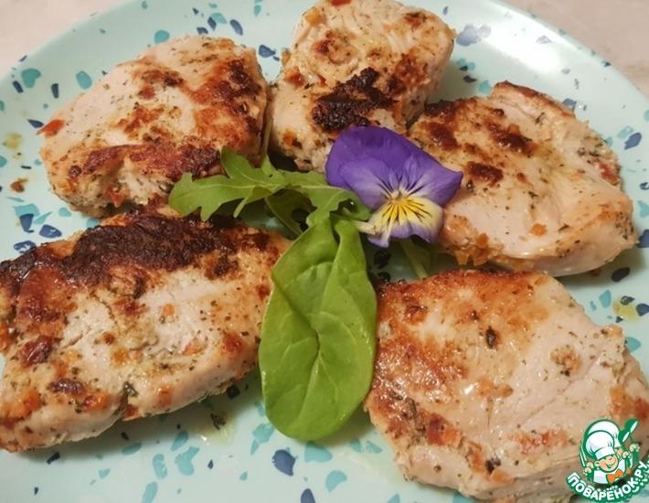 Рецепт: Курица с медом и имбирем