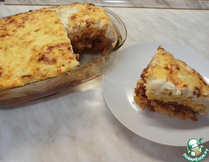 Рецепт: Мясная запеканка с макаронами