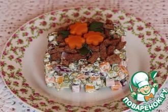 Рецепт: Салат из фасоли с зеленым горошком