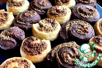 Рецепт: Творожное печенье с халвой