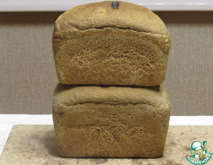 Рецепт: Хлеб на солодовой заварке и закваске