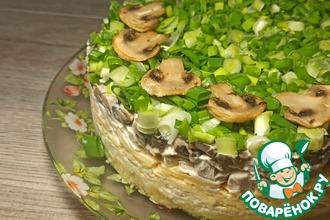 Рецепт: Салат с грибами и курицей
