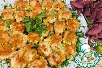 Рецепт: Сочная кюфта с картофелем в духовке