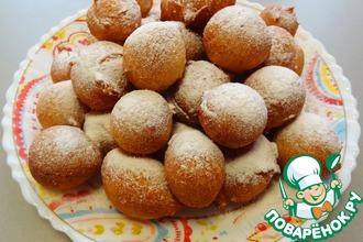 Рецепт: Пончики на кефире на скорую руку