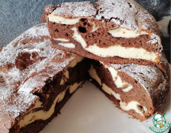 Рецепт: Шоколадно-творожный пирог