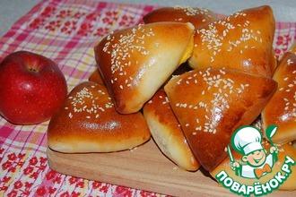 Рецепт: Пирожки с яблоками сочные пушинки
