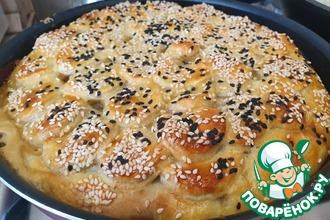 Рецепт: Слоеный пирог с капустой и шампиньонами