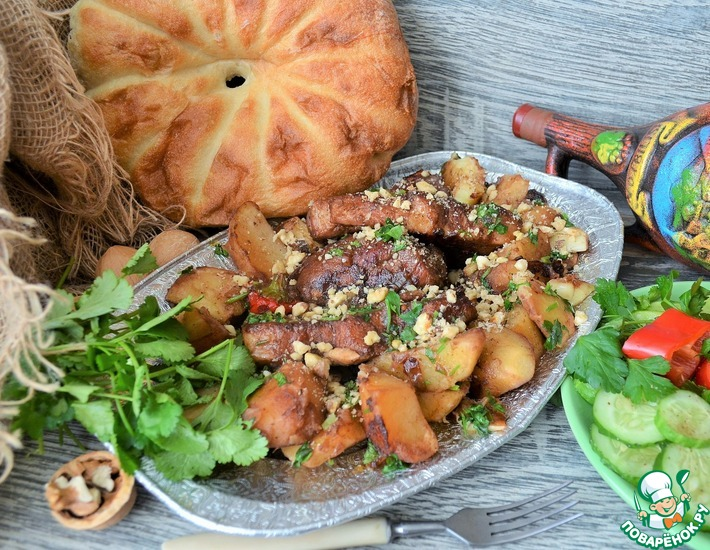 Рецепт: Свинина по грузинским мотивам