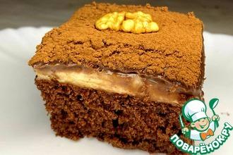 Рецепт: Пирожное с шоколадным и лимонным кремом