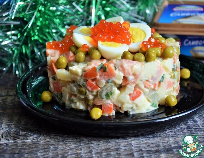 Рецепт: Салат Рыбный оливье