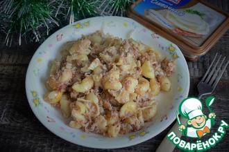 Рецепт: Макароны с мясом и сливочным сыром
