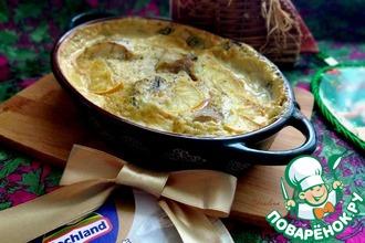 Рецепт: Минтай запечённый в сырно-перечном соусе