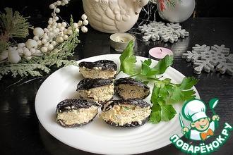 Рецепт: Закуска с черносливом «Мидии»