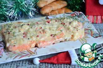 Рецепт: Форель в сырно-картофельном соусе